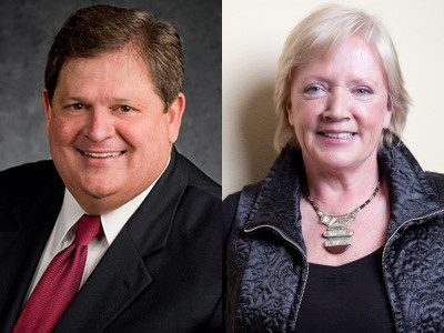 Mike Robertson, host of Straight Talk Money, and Susan Morrice, CEO of Belize National Industry